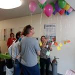 Bei uns wurden mit Luftballons Wünsche in den Himmel geschickt!